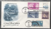US  1987   10c Canal Boat On Artcraft Combo FDC - Transport