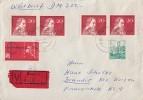 DDR Wertbrief Mif Minr.836,4x 890,891 Dessau - Briefe U. Dokumente