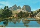 Italy, Laghetto Verso Il Gruppo Sassolungo, Used Postcard [P9904] - Italy