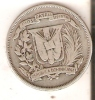 MONEDA DE PLATA DE LA REP. DOMINICANA DE MEDIO PESO DEL AÑO 1947  (COIN) SILVER,ARGENT. - Dominicaine