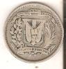 MONEDA DE PLATA DE LA REP. DOMINICANA DE MEDIO PESO DEL AÑO 1937  (COIN) SILVER,ARGENT. - Dominicaine