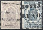 FRANCE - 2 C. Violet & Bleu Oblitérés TB - Giornali