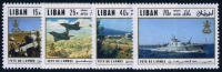 Lebanon C642-45 Mint Never Hinged Army Day Airmail Set From 1971 - Lebanon