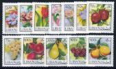 Lebanon C658-69 Mint Never Hinged Flowers & Fruits Airmail Set From 1973 - Lebanon