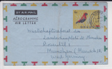 GHANA - 1960 - LETTRE AEROGRAMME De ACCRA Pour MÜNCHEN (GERMANY) - OISEAU - BIRD - Ghana (1957-...)
