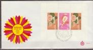 Suriname, 1974, Children, Fruits, Birds, Flower, Cereal Grain Crop, Block, E111, FDC - Infanzia & Giovinezza