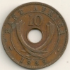 East Africa  10 Cents  KM#26.1  1939H - Colonia Britannica