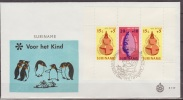 Suriname, 1975, Children, Indian Stone Arrowhead, Water Jug, Wayanabord, Block, E117, FDC - Kulturen