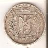 MONEDA DE PLATA DE LA REP. DOMINICANA DE MEDIO PESO DEL AÑO 1960  (COIN) SILVER,ARGENT. - Dominicaine
