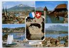 LUZERN  CACHET  DE LUBARA 1981 ASTRO PHILATELIE 22.3.81 SUR CARTE MULTIVUES - Marcophilie