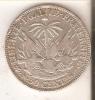 MONEDA DE PLATA DE HAITI DE 50 CENTS DEL AÑO 1883  (COIN) SILVER,ARGENT. - Haití