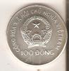 MONEDA DE PLATA DE VIETNAM DE 100 DONG DEL AÑO 1986 CAMPEONATO MUNDIAL DE FUTBOL 1986 (COIN) SILVER,ARGENT. - Viêt-Nam