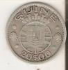 MONEDA DE PLATA DE GUINEA DE 20 ESCUDOS  DEL AÑO 1952  (COIN) SILVER,ARGENT. - Guinea