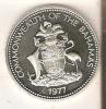 MONEDA DE PLATA DE BAHAMAS DE 50 CENTS DEL AÑO 1977  (COIN) SILVER-ARGENT - Bahamas