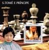 S. TOME & PRINCIPE 2003 - Xie Jun, Chess - Palop B537 - Schaken