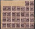 DR Briefstück Minr.30x D92 - Dienstpost