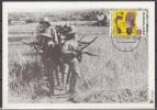 Nederland, 1994, Japanese Camps In Dutch Indies, Footprint, Maximum Card - Seconda Guerra Mondiale