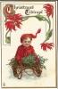 "111. Raphael Tuck & Sons' ""Christmas Children"" Postcard No.540 – Boy On Sled - Christmas"