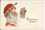 122. Christmas Santa With Toys Postcard Early 1900's - Santa Claus