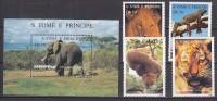 PGL AA0550 - SAO TOME Yv N°1264CQ/CT + BF ** ANIMAUX ANIMALS - Sao Tome En Principe