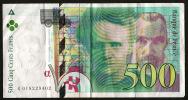 Billet De 500 Francs FF Pierre Et Marie Curie Type 1994 - Bon état - Aucunes Taches Ni Déchirures, Juste Des Plis - 1992-2000 Dernière Gamme