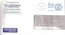 EMA  MONACO 50 ANS DU CENTRE SCIENTIFIQUE 2010 - Machine Stamps (ATM)