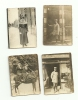 Lot 4 Belles Photos Anciennes Format 4 X 6 Cm ( Petites) Attelage -militaire-femme élégante - Photos