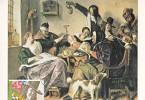 Carte-Maximum PAYS-BAS N°Yvert 1117 / Jan STEEN  / La Joyeuse Compagnie - Arts