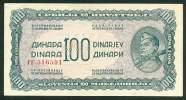 YUGOSLAVIA , 100 DINARA 1944 , P-53b , UNC - Joegoslavië