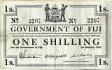 FIJI 1 SHILLING  WHITE EMBLEM FRONT UNIFACE BACK DATED 01-01-1942 AVF P.48 READ DESCRIPTION!! - Fidji
