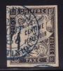 Taxe Duval Noir 1 Cent Oblitéré Fort De France 26 Oct 88» En Bleu - Timbres-taxe