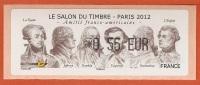 VIGNETTE LISA 1 - SALON TIMBRE 2012 - GRANDS PERSONNAGES DE L'HISTOIRE  - MENTION 0,55 EUR - NEUF - Vignettes D'affranchissement