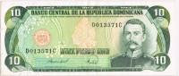 Billete 10 Pesos Republica DOMINICANA, Mella Y Mineria - República Dominicana