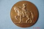 Médaille Bronze St-Cyr Effigie Napoleon1er à Cheval ,dia:8cms ,poids:220grs ,frappée Par Les Monnaies De Paris - Militari
