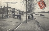 Cp 92 CRUE L'inondation Env De Paris à Boulogne BILLANCOURT Quai ( Usine Cycles Garage Bateau Péniche ) Adr  NOUZIERS 23 - Boulogne Billancourt