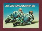 Moto - Road Racing WORLD CHAMPIONSHIP 1986 - HONDA - CAMPEA - PONS & CARDUS - HRC - (Format Carte Postale) - Autocollants