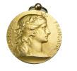 Médaille - Société Industrielle De L'Est - Argent Doré (vermeil) - 36mm - 24,57gr. - TTB - Professionals / Firms