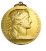Médaille - Société Industrielle De L´Est - Argent Doré (vermeil) -  41mm - 37,10gr. - TTB - Professionals / Firms