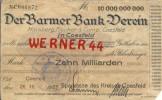 """Städte Großgeldscheine - Banknoten Während Der Inflationszeit V. 1923 Coesfeld 10 Milliarden  """"NOTGELD"""" (169) - 10 Milliarden Mark"""