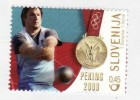 1036/ Slowenien Slovenia 2008 Mi.No. 693 ** MNH Gold Medaille Leichtathletik Athletics Throwing Hammers Olimpic Beijing - Summer 2008: Beijing