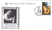 SERGHEI RAHMANINOV, PIANO CONCERT, 2001, SPECIAL COVER, OBLITERATION CONCORDANTE, ROMANIA - Musique