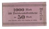 Bracelet Papier Billet Allemand 20x50 Mark Darlehenskaffenfcheine - [ 2] 1871-1918 : Empire Allemand