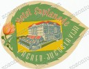 HOTEL ESPLANADE ZAGREB HRVATSKA CROATIA - Vintage Old HOTEL LUGGAGE LABEL ETIQUETTE ETICHETTA BAGAGE - Etiketten Van Hotels