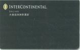 Clef D`hotel Room Key Keycard Chiave Di Albergo Tarjeta Hotel Hotelkarte INTERCONTINENTAL DALIAN - Hotelzugangskarten