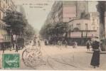 CPA 75 PARIS XIX Rue Sécrétan Commerces Ligne Aérienne Du Métro Carte Colorisée 1908 - Distrito: 19