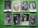 Lot De 8 Cartes Fantaisie-et Autres-? 6060-?110-colombe-rose-4 Lui Peut-on Voir La Jambe..-?1362-?3525-?554/9-iris - Cartes Postales