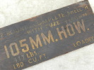 U.S. ARMY 39-45 : CAISSE OBUS 105 HOWITZER 1943   !!!!!  � voir .............