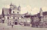 MALINES = Les Halles Et La Statue De Marguerite D'Autriche  (Nels Bxl  S.Malines  N° 55) 1912 - Malines