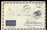 COVER / AIRLETTER * POSTAL STATIONERY POLAND SENT TO HOLLAND * 1959 - 1944-.... Repubblica