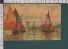 R2958 ILLUSTRAZIONE BARCHE A VELA ACQUARELLO Pieghette FP - Barche